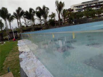 Paneles de piscina de acrílico para exterior hechos a medida